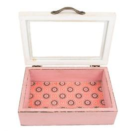 Marrakesh Holzschmuckbox pink