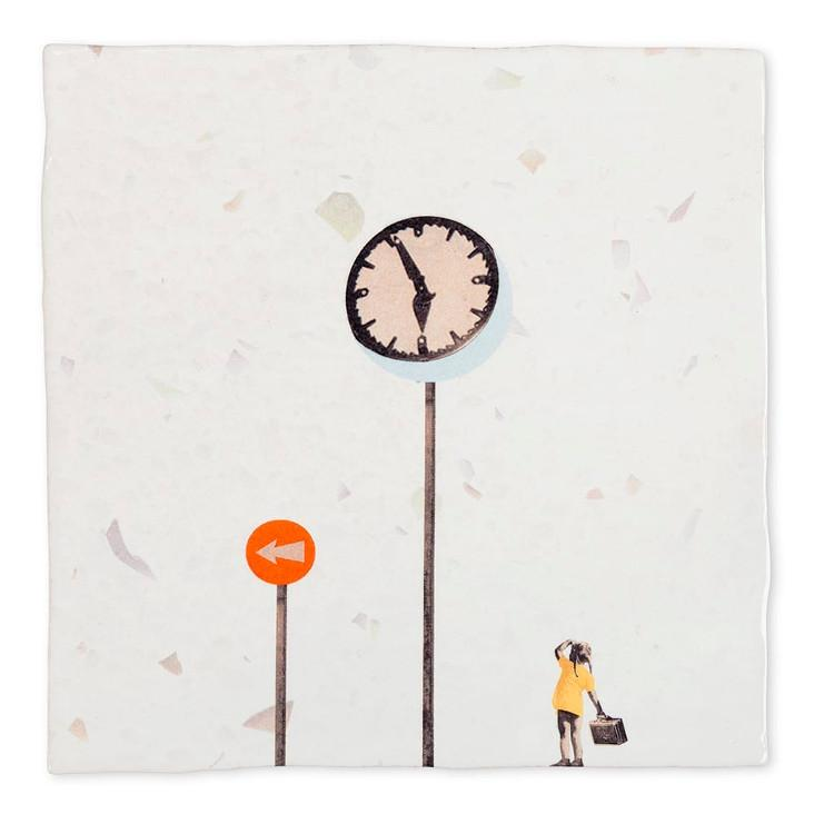 Plättli-Bild Where are you going 10x10 Small