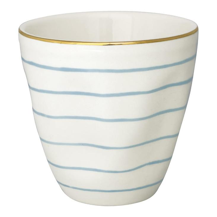 Green Gate Latte Cup Sally pale blue with gold