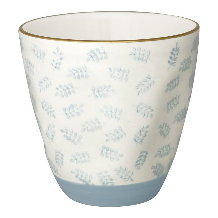 Green Gate Latte Cup Lianna pale blue with gold