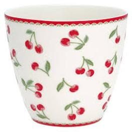 Green Gate Latte Cup Cherry White