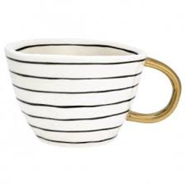 GreenGate Tasse Sally mit Goldrand